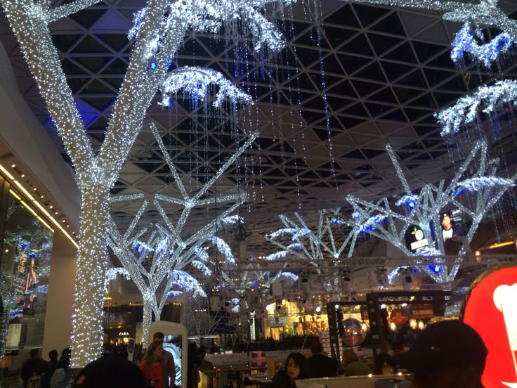 Westfields at Christmas time