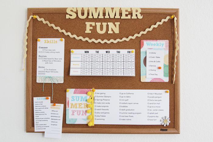 Great Summer Fun Board: Command Center, Kid Activities, Kids Activities, Calendar Ideas, Summerfun, Summer Ideas