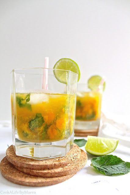 Cook A Life! byMaeva • { Cocktail } Mojito à la mangue #menthe #boisson #cocktail #exotique #été
