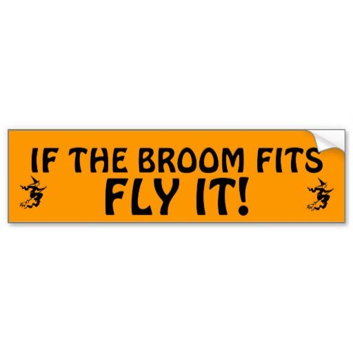 If the broom fits dont remember where i heard this but i didnt come up with it a good bumper sticker for those self aware mean girls