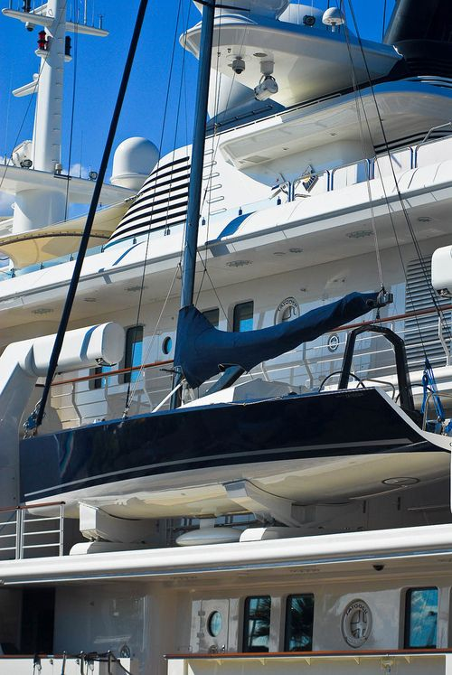 Sailing tender/accessory on the yacht Tatoosh.