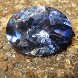 Violetish Blue Iolite Oval 1.40 carat