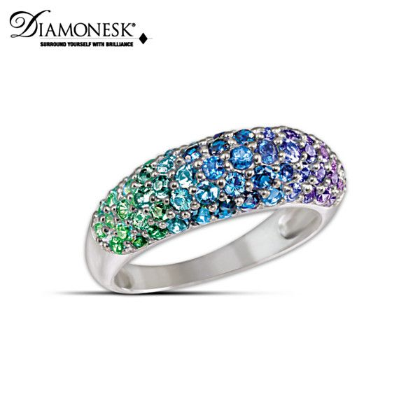 Charisma Ring - Peacock colors - Bradford Exchange