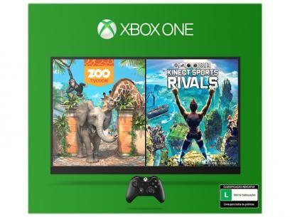 Console Xbox One 500 com Controle e Kinect - 2 Jogos Via Download - Microsoft…