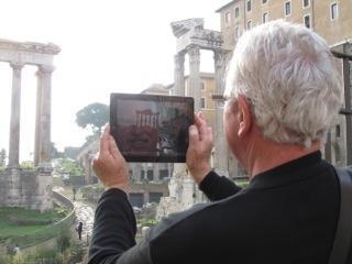 iPad on tour ...