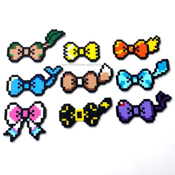 Hey, I found this really awesome Etsy listing at https://www.etsy.com/listing/182297170/hair-bows-pokemon-eeveelution-bows-eevee