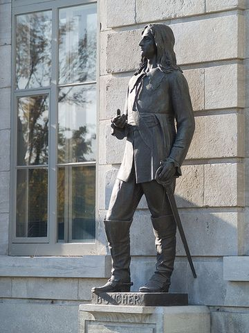 Marin's nephew, Pierre Boucher. Statue outside Parliament building in Quebec. Gov. Of Boucherville, town named after him. Quite a history on Google.