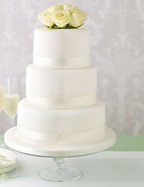 Elegant Round Wedding Cake http://www.weddingheart.co.uk/marks-and-spencer---wedding-cakes.html