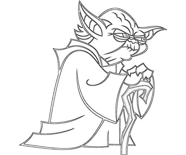 star wars coloring pages yoda coloring kids Pinterest
