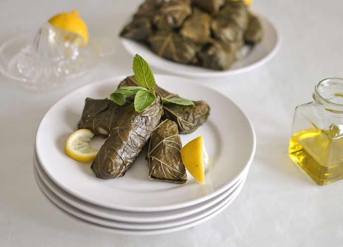 From the Vine with Love – Dolmades, Stuffed Grape Leaves http://www ...