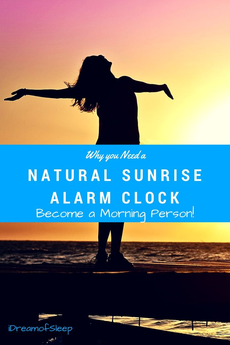 Traditional alarm clocks trigger a fight or flight response. Become a morning person with a natural sunrise alarm clock. via @https://www.pinterest.com/bmused2/
