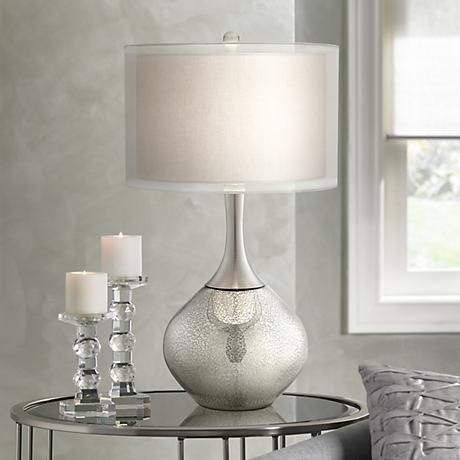 possini euro design swift modern mercury glass table lamp style 7c391 - Bedroom Table Lamps