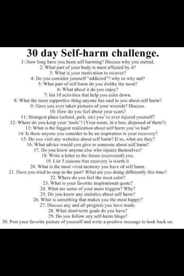 how to stop self harm autism