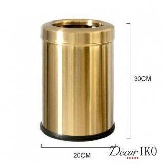 #copy Эксклюзивное ведро для мусора DB-247 металлическое под золото 10 литров