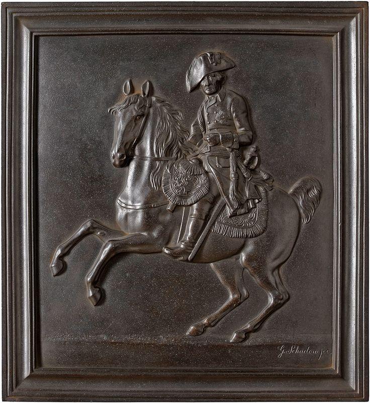 Фридрих Великий на коне . Чугун