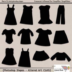 Photoshop shape - Altered Art Cloth shape