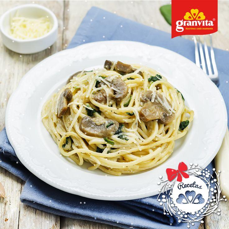 #Receta: Pasta con leche de avena y espinacas. Cremosa y calientita.