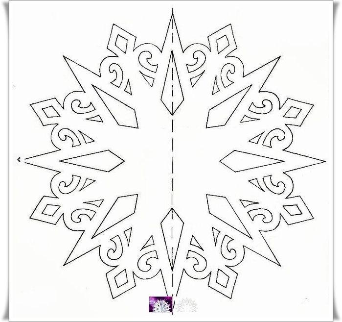 рождественская звезда шаблон для вырезания
