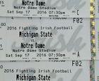 Ticket  1 Ticket Notre Dame Fighting Irish vs Michigan State MSU Football Floor Seat! #deals_us