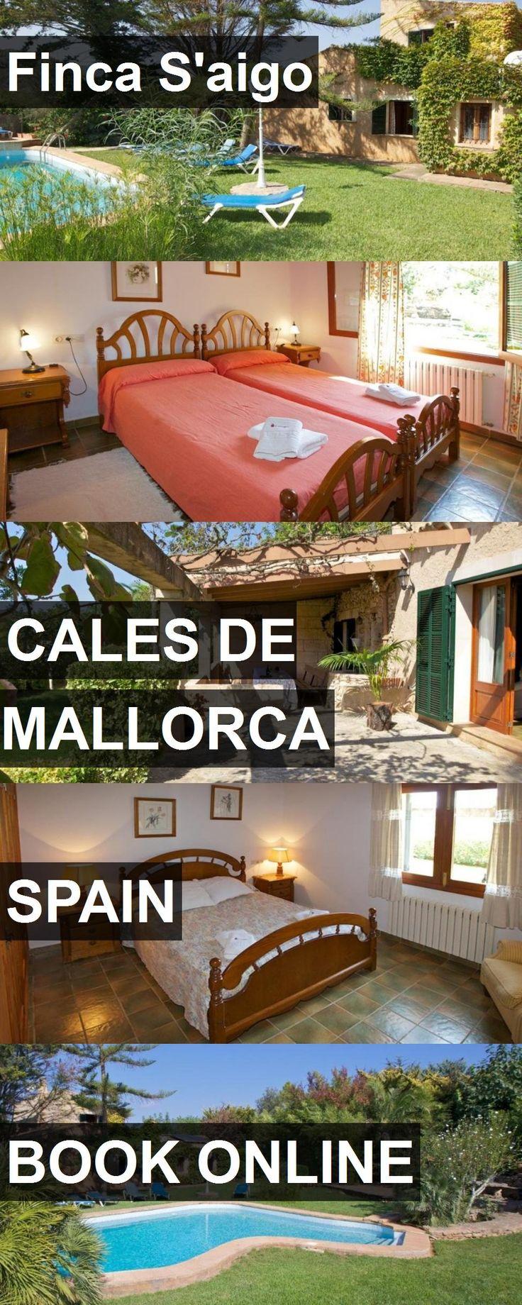 Hotel Finca S'aigo in Cales de Mallorca, Spain. For more information, photos, reviews and best prices please follow the link. #Spain #CalesdeMallorca #hotel #travel #vacation