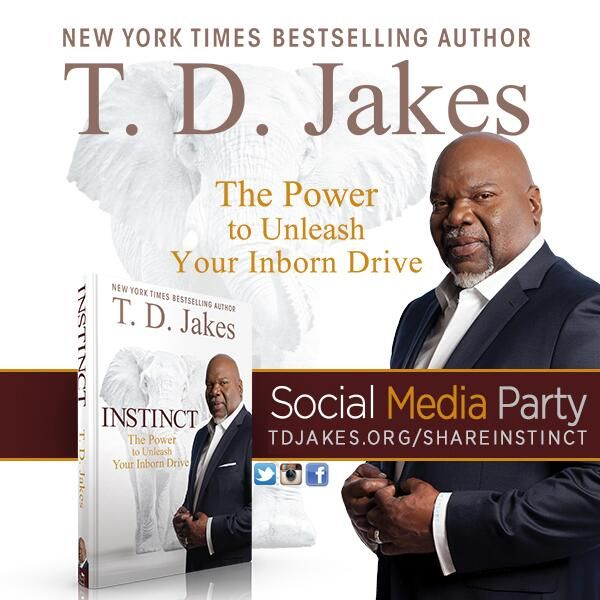 Are you ready to help tell the world about #INSTINCT! Log on to http://tdjakes.org/shareinstinct and Share how much you support this amazing book.