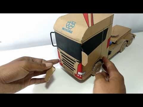 Cara Membuat Mobil Mainan Dari Kardus Miniatur Truk Scania Youtube Mobil Mainan Mainan Buatan Sendiri Miniatur