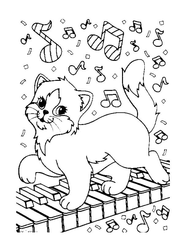 coloring page musical instruments kids n fun - Music Coloring Pages