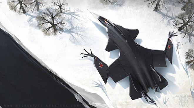 ẢNH ẤN TƯỢNG: Chiến đấu cơ, xe tăng Nga bỗng chốc biến thành... quái vật thời tiền sử - Ảnh 1.