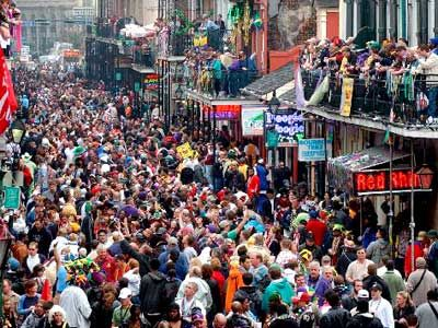 Go to Mardi Gras on Bourbon Street...bucket list