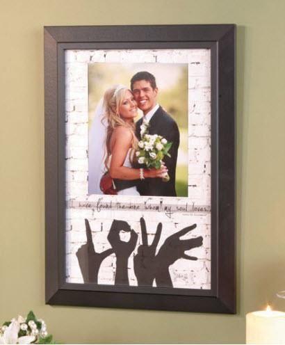 LOVE Photo Frame by Marla Rae at #dustyjunk.com only $24 - #wedding gift #marlarae