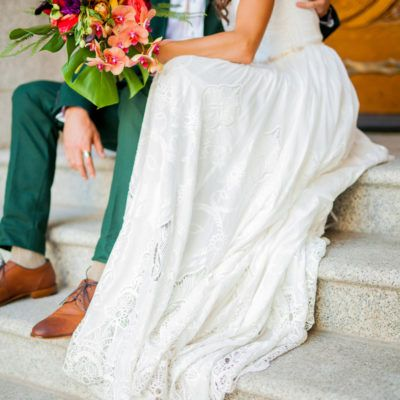 modest wedding dress with long sleeves from utah bridal shop.  photo by castleberry photography