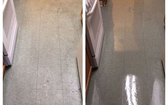 Vinyl Floor Stripping Buffing And Waxing By Quality Care Carpet And Floor Cleaners Inc Floor Cleaner Vinyl Flooring Floor Cleaning Services