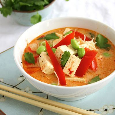 Spicy Thai Coconut Soup with Ginger, Lime and Vermicelli: Fun Recipes, Thai Food, Spicy Thai, Thai Coconut Soups, Vermicelli, Gingers, Inspiration Edible, Limes, Favorite Recipes