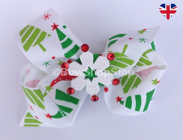 119 Best Christmas Hair Bows Images On Pinterest Christmas Hair  - Christmas Tree Hair Bows