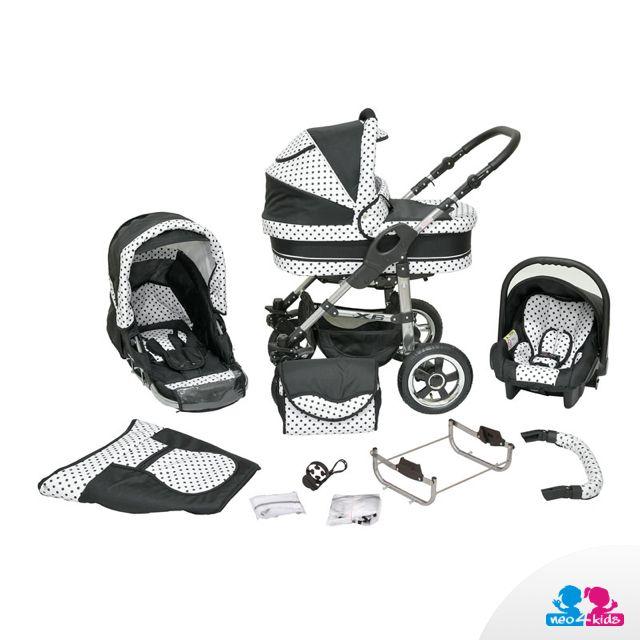 Kinderwagen 3in1 (Babywanne, Sportsitz, Babyschale) #Kinderwagen #3in1 #Kombikinderwagen #Buggy