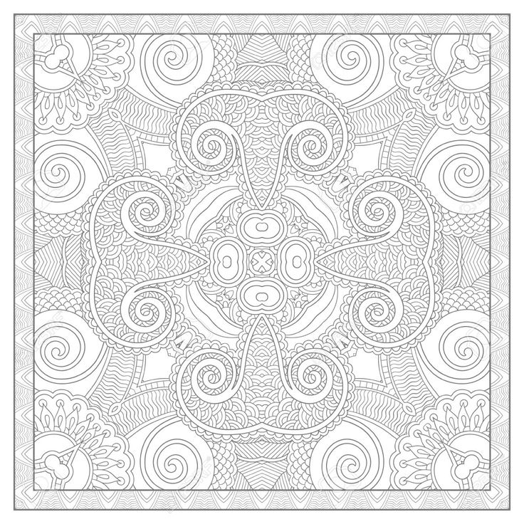 square mandala coloring pages - photo#18