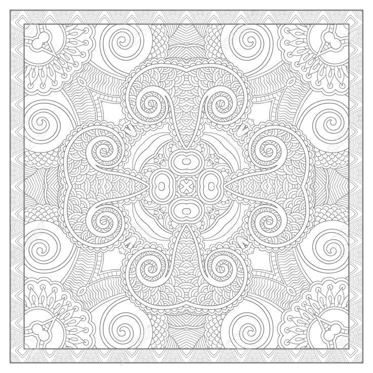 square mandala coloring pages - photo#35