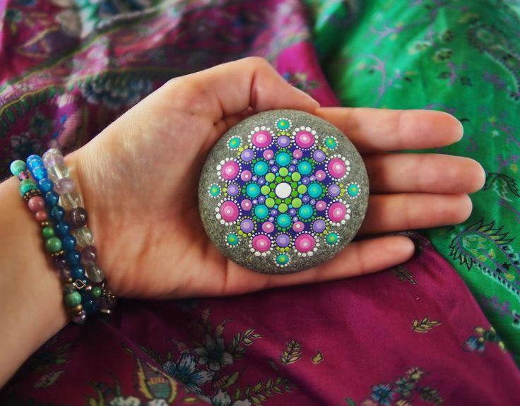 jewel drop mandala painted stones elspeth mclean. Black Bedroom Furniture Sets. Home Design Ideas