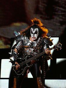 Gene Simmons - KISS! I still have Gene's picture on the night stand. I remember what you said. Home is where Gene is...