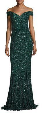 Rachel Gilbert Essi Embellished Off-The-Shoulder Gown