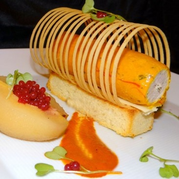 Corn Fed Chicken in Saffron jelly by Chef Zassim Mobarak (Goa, India).