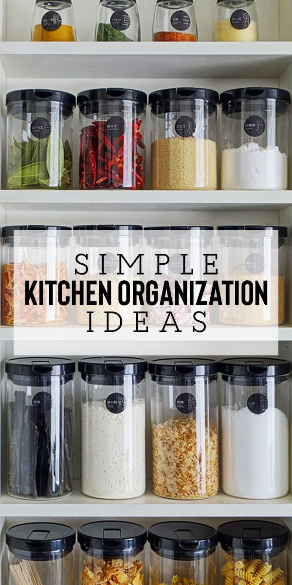 Kitchen With These Easy Organization