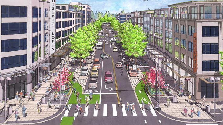 complete street illustration