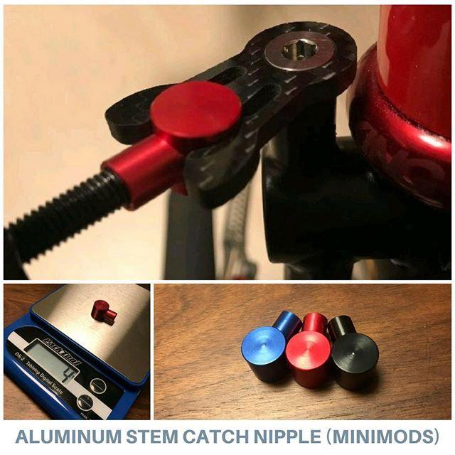 Brompton Colorful Aluminum Mushroom Nipple for Handlebar Stem Catch
