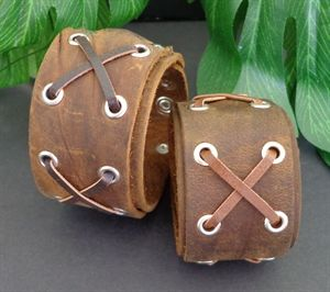 Picture of LEATHER CUFF- BROWN$10.00