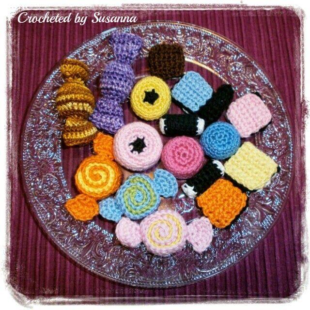 Crochet Candy - Virkad Godis - Crocheted by Susanna