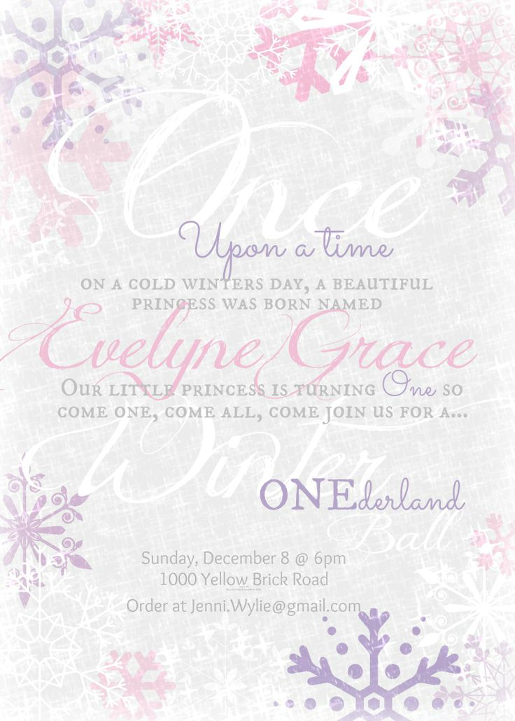 10 best Winter Onederland Birthday Party Invitations images on ...