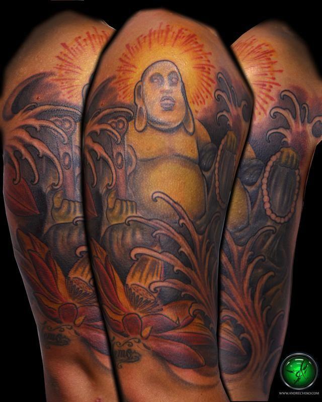 55 New Style Buddha Tattoo On Full Sleeve: 46 Best Buddha Tattoo Sleeve Images On Pinterest