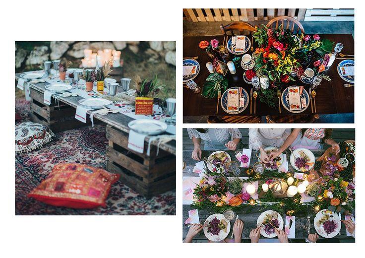 boho styling table settings