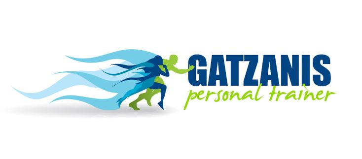Personal training logo - green-blue.